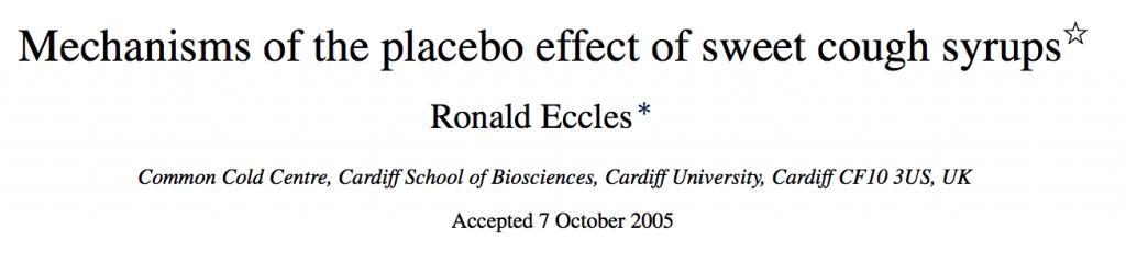 mecanismo placebo para la tos