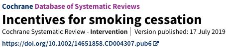 incentivos para dejar de fumar