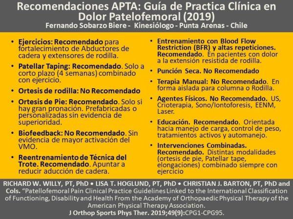 Recomendación APTA BRF