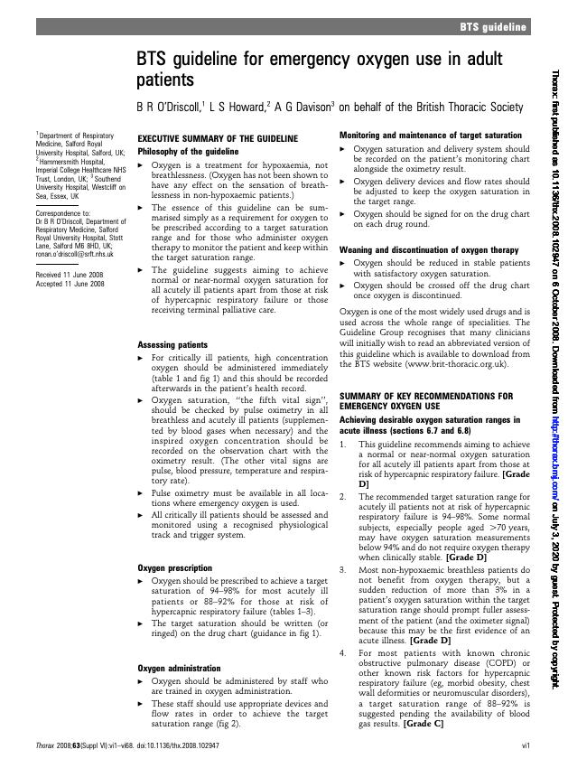 Guía britanica de oxigenoterapia