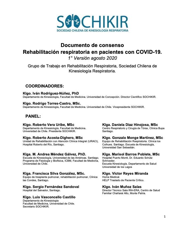 Consenso rehabilitación pulmonar SOCHIKIR