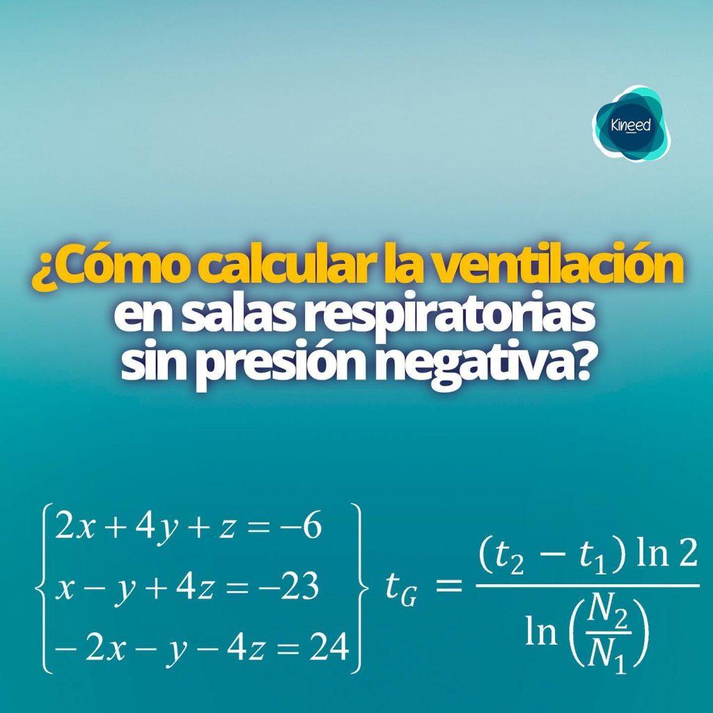¿Cómo calcular tiempos de ventilación para salas sin presión negativa? 1